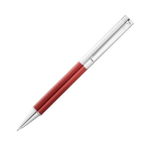 Hallmarked Sterling Silver Waldmann Propelling Pencil - Cosmo - Metallic Red Finish